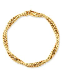 Bloomingdale's Metallic Twisted Curb Chain Bracelet In 14k Yellow Gold