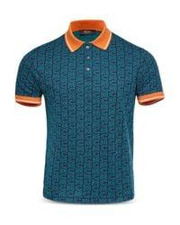 MCM Blue Slim Fit Polo Shirt for men
