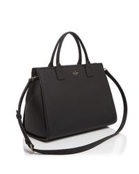 Kate Spade - Black Dunne Lane Lake Leather Satchel - Lyst