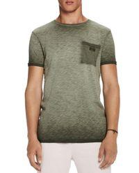 Scotch & Soda Green Oil Washed T-shirt for men