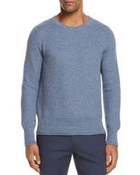Eidos Blue Mouline Basic Sweater for men