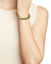 Bourbon and Boweties - Green Stretch Bracelet - Lyst