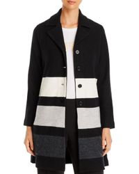 Karl Lagerfeld Black Striped Button - Front Cardigan