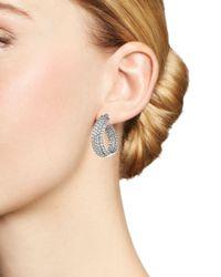 Bloomingdale's - Diamond Multi Row Inside Out Oval Hoop Earrings In 14k White Gold, 4.70 Ct. T.w. - Lyst