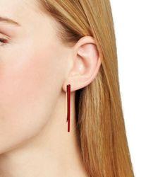 Rebecca Minkoff Multicolor Triangular Resin Drop Earrings