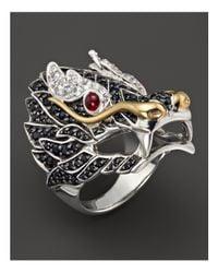 John Hardy   Multicolor Sterling Silver & 18k Gold Naga Lava Dragon Ring   Lyst
