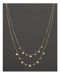 """Lana Jewelry 14k Yellow Gold Boho Gypsy Necklace, 17.5"""""""