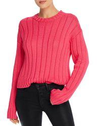 10 Crosby Derek Lam Pink Iola Rib Knit Sweater