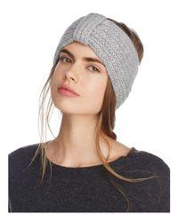 Rosie Sugden | Gray Knit Cashmere Headband | Lyst