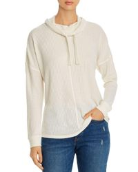 Marc New York White Performance Brushed Waffle - Knit Top
