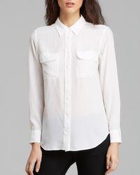 Equipment - White Shirt - Slim Signature Silk - Lyst