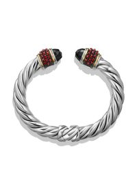 David Yurman Black Garnet And 18k Gold