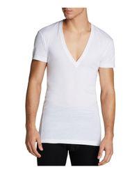 2xist | White 2(x)ist Pima Cotton Slim Fit Deep V-neck Tee for Men | Lyst