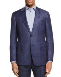 Armani Blue Collezioni Plaid Regular Fit Sport Coat for men