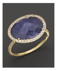 Meira T | Diamond And Tanzanite Ring In 14k Yellow Gold | Lyst