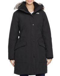 The North Face - Black Outer Boro Faux Fur Trim Parka - Lyst
