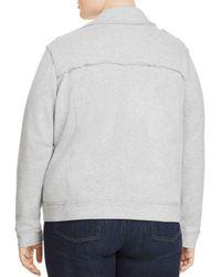Vince Camuto Signature Gray Heathered Knit Moto Jacket