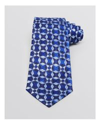 Armani Blue Geo Star Classic Tie for men