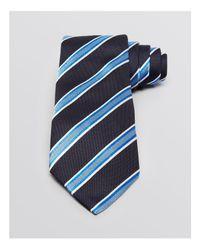 Armani   Black Twill Stripe Classic Tie for Men   Lyst