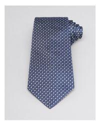 Armani | Blue Micro-triangle Jacquard Necktie for Men | Lyst