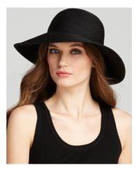 Eric Javits | Black Packable Squishee Iv Short Brim Sun Hat | Lyst