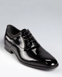Ferragamo Black Aiden Tuxedo Oxfords for men