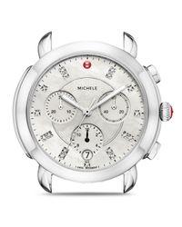 Michele Metallic Sidney Watch Head