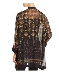 Vince Camuto - Black Art Deco Print Kimono Jacket - Lyst