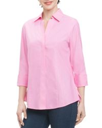 Foxcroft - Pink Button-down Top - Lyst