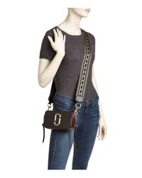 Marc Jacobs - Black Snapshot Chain Link Strap Color Block Leather Camera Bag - Lyst