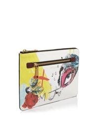 Marc Jacobs - White Large Collage Print Zip Pouch - Lyst