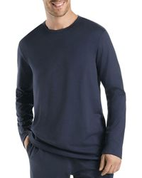 Hanro Black Night And Day Long Sleeve Shirt for men