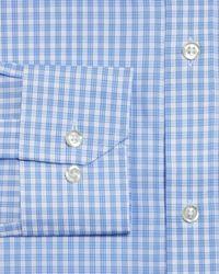 Bloomingdale's - Blue Cross Check Regular Fit Dress Shirt for Men - Lyst