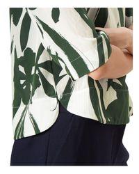 Hobbs Green Maida Printed Silk Top