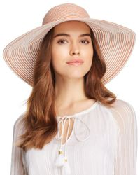 Aqua - Multicolor Two-tone Packable Floppy Hat - Lyst