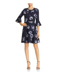 Kate Spade - Blue Night Rose Bell Sleeve Dress - Lyst