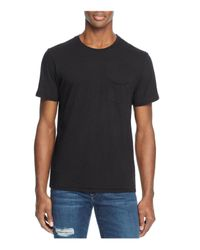 Joe's Jeans | Black Cotton Jersey Pocket Tee for Men | Lyst