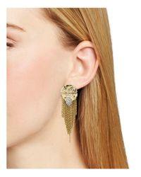 Alexis Bittar | Metallic Rocky Medallion Post Earrings | Lyst