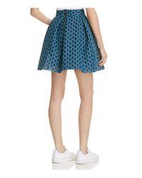 Maje Blue Jungla Lace Skirt