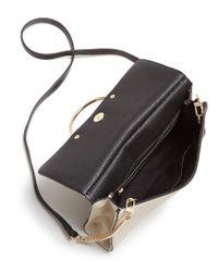 MILLY - Black Astor Flap Leather Crossbody - Lyst