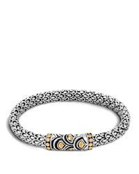 John Hardy Metallic Sterling Silver & 18k Bonded Gold Naga Chain Bracelet