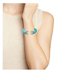 Alexis Bittar - Blue Hinged Bracelet - Lyst