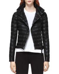 Mackage Black Ulani Down-filled Moto Jacket