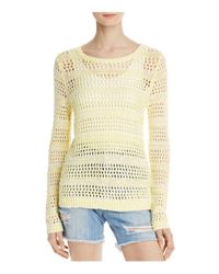 Soft Joie - Yellow Akemi Openwork Sweater - Lyst