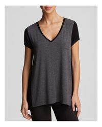 DKNY - Gray Urban Essential Colorblock Tee - Lyst
