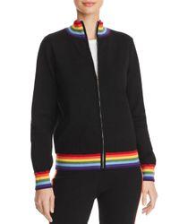 Aqua Black Madeleine Thompson X Rainbow - Stripe Track Jacket