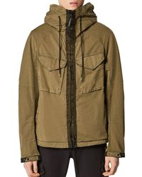 C P Company Green Raso Goggle Cotton - Blend Water - Resistant Jacket for men