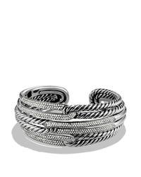 David Yurman | Metallic Labyrinth Triple-loop Cuff With Diamonds | Lyst