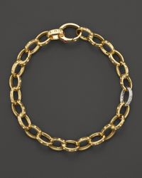 Roberto Coin | Metallic 18k Yellow Gold Pois Moi Diamond Chain Bracelet | Lyst