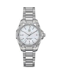 Tag Heuer Metallic Aquaracer 300m Quartz Stainless Steel And White Mother Of Pearl Watch